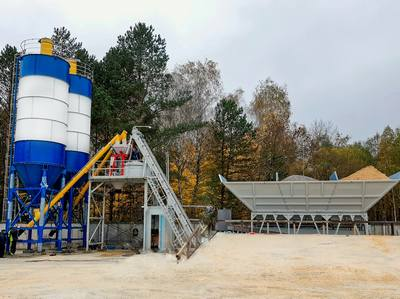 Concrete-mixing plants